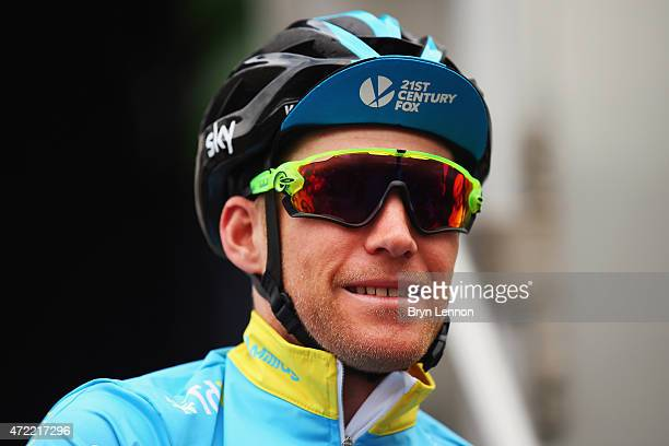 Race leader Lars-Petter Nordhaug of Norway and Team SKY arrives at the start of stage 2 of the Tour de Yorkshire from Selby to York on May 2, 2015 in...