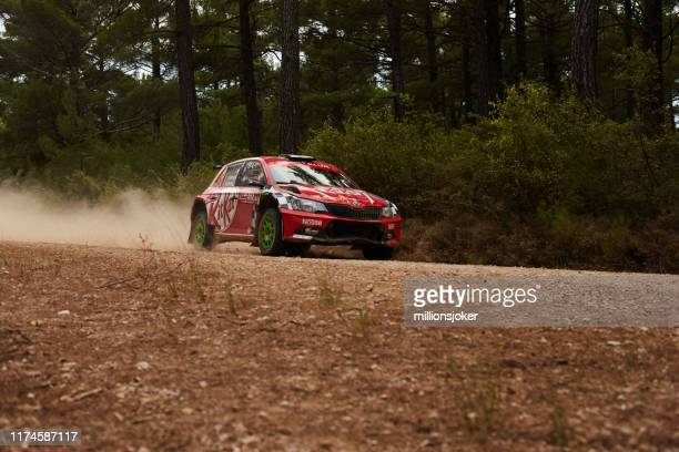 race of cars, yaraws in muğla, turkey - rally car racing stock pictures, royalty-free photos & images