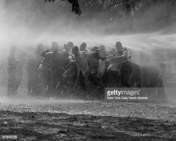 Race riots in Birmingham, Alabama, USA, 4th May 1963.
