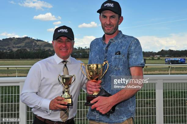 Race Sponsor Mick Bromley Dealer Principal at McRae Motors and Michael Roebuck after winning the McRae Motors Wodonga Gold Cup at Wodonga Nordcon...