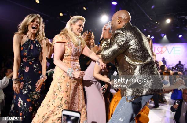 Race to Erase MS founder Nancy Davis and Flo Rida perform onstage during the 26th annual Race to Erase MS on May 10, 2019 in Beverly Hills,...