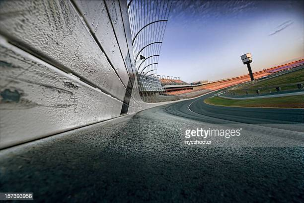 race track at dawn - nascar stock pictures, royalty-free photos & images