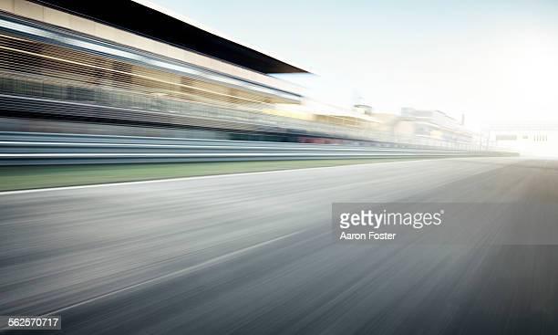 Race track grandstand