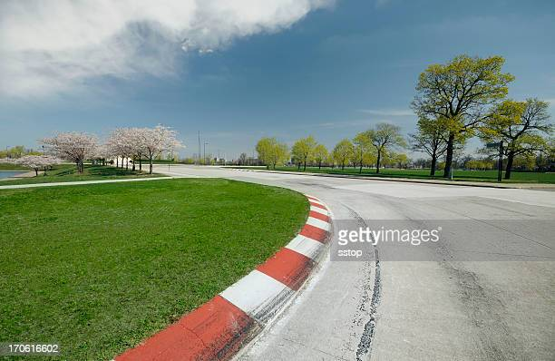 race track turn - grand prix motor racing stock pictures, royalty-free photos & images