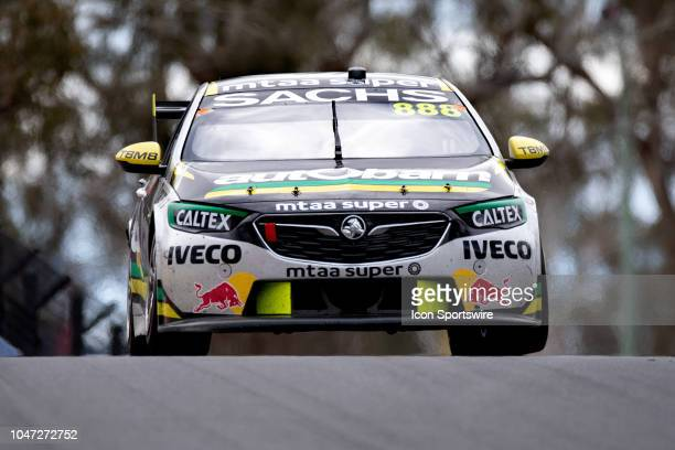 Race Winner Craig Lowndes / Steven Richards in the Autobarn Lowndes Racing Holden Commodore across the top of the mountain at the Supercheap Auto...