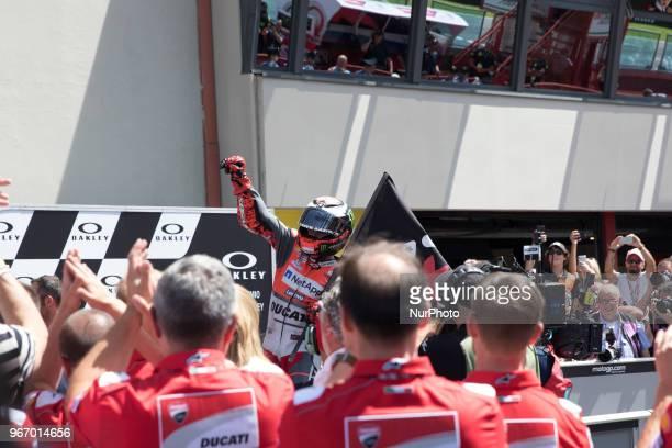 99 Race winner during Race MotoGP at the Mugello International Cuircuit for the sixth round of MotoGP World Championship Gran Premio d'Italia Oakley...