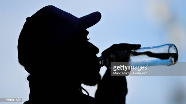 Race winner Lewis Hamilton of Great Britain and Mercedes GP takes a drink during the F1 Grand Prix of Spain at Circuit de Barcelona-Catalunya on...