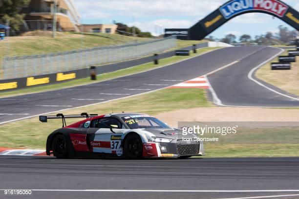Race winner No 37 Audi Sport Team WRT Audi R8 LMS driven by Robin Frijns / Stuart Leonard / Dries Vanthoori at The LiquiMoly Bathurst 12 Hour...
