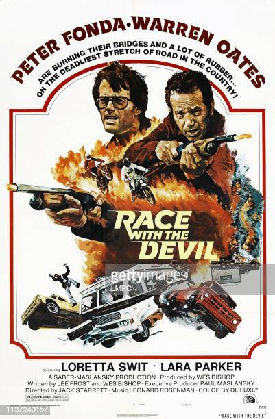 Race With The Devil, poster, US poster, from left: Peter Fonda, Warren Oates, 1975.