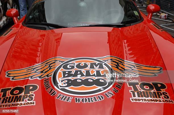 Racecar at the Gumball 3000 rally at Pall MallLondonUK