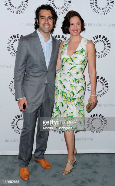 Racecar driver Dario Franchitti and actress Ashley Judd arrive to The Paley Center for Media presents A Screening of ABC's Missing at The Paley...