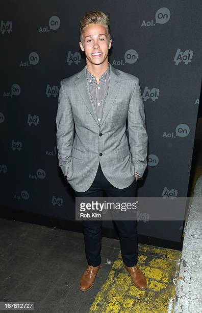 Racecar driver Dylan Kwasniewski attends the AOL 2013 Digital Content NewFront on April 30 2013 in New York City