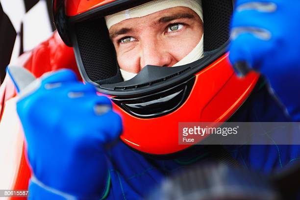 racecar driver giving thumbs up - will power race car driver stock pictures, royalty-free photos & images