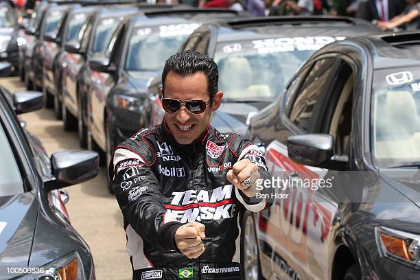 Racecar Driver Helio Castroneves attends Macy's and IZOD's celebration of the Indianapolis Motor Speedway and the Indy 500 at Macy's Herald Square on...