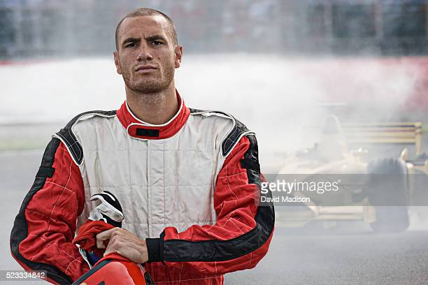 racecar driver leaving racecar with mechanical breakdown - will power race car driver stock pictures, royalty-free photos & images