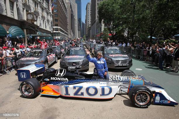 Racecar Driver Mario Andretti attends Macy's and IZOD's celebration of the Indianapolis Motor Speedway and the Indy 500 at Macy's Herald Square on...