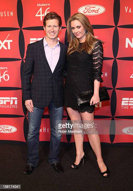 Racecar driver Ryan Briscoe and TV personality Nicole Briscoe attend ESPN The Magazine's NEXT Event on February 3 2012 in Indianapolis Indiana
