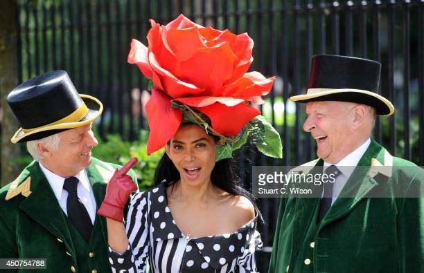 Racegoer attends Day 1 of Royal Ascot at Ascot Racecourse on June 17 2014 in Ascot England