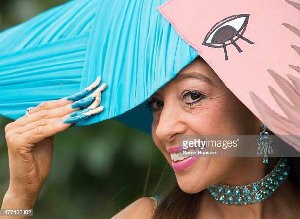A racegoer attends day 2 of Royal Ascot at Ascot Racecourse on June 17 2015 in Ascot England
