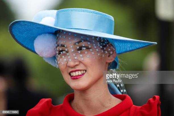 A racegoer attends day 3 of Royal Ascot at Ascot Racecourse on June 22 2017 in Ascot England The fiveday Royal Ascot meeting is one of the highlights...