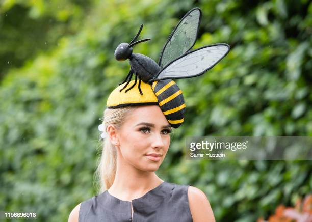 Racegoer attends day one of Royal Ascot at Ascot Racecourse on June 18, 2019 in Ascot, England.