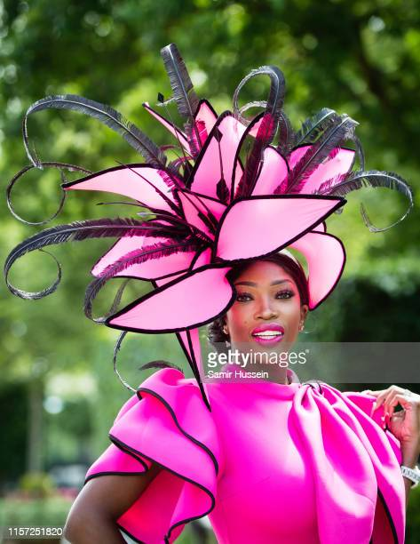 A racegoer attends day three Ladies Day of Royal Ascot at Ascot Racecourse on June 20 2019 in Ascot England