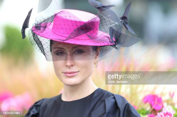 Racegoer attends Ladies Day during Royal Ascot 2021 at Ascot Racecourse on June 17, 2021 in Ascot, England.