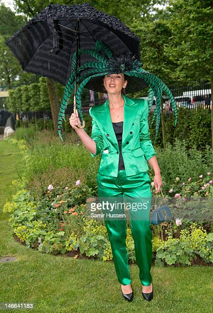 A racegoer attends Ladies Day of Royal Ascot 2012 at Ascot Racecourse on June 21 2012 in Ascot United Kingdom