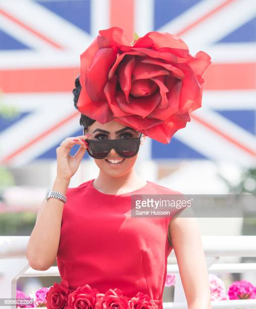 A racegoer attends Royal Ascot 2017 at Ascot Racecourse on June 22 2017 in Ascot England