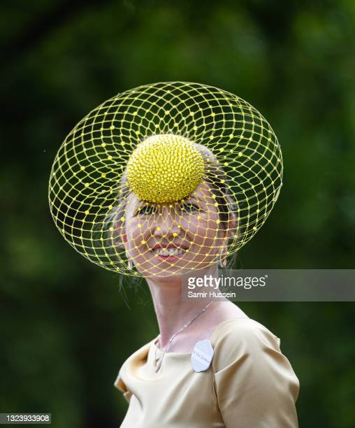 Racegoer attends Royal Ascot 2021 at Ascot Racecourse on June 16, 2021 in Ascot, England.