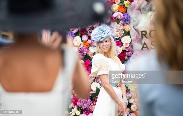 Racegoer attends Royal Ascot 2021 at Ascot Racecourse on June 17, 2021 in Ascot, England.