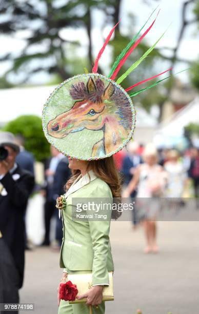 A racegoer attends Royal Ascot Day 1 at Ascot Racecourse on June 19 2018 in Ascot United Kingdom