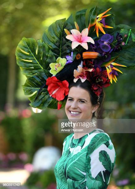 A racegoer attends the third day of Royal Ascot on June 21 2018 in Ascot England