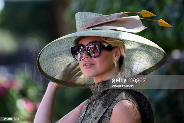 Racegoer attends the third day of Royal Ascot on June 21, 2018 in Ascot, England.