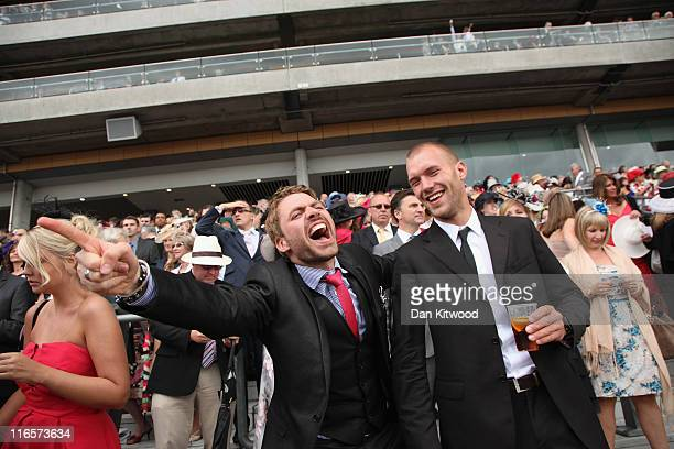 A racegoer cheers after racing on Ladies Day at Royal Ascot on June 15 2011 in Ascot England The fiveday meeting is one of the highlights of the...