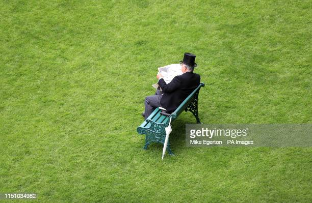 Racegoer during day three of Royal Ascot at Ascot Racecourse.
