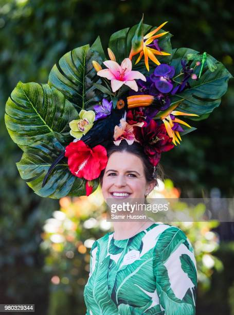 A racegoer during Royal Ascot Day 3 at Ascot Racecourse on June 21 2018 in Ascot United Kingdom