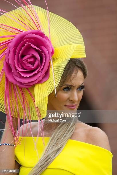 Racegoer Katie Houghton 'Ladies Day' at 'Glorious Goodwood' The Qatar Goodwood Festival at Goodwood Racecourse August 3 2017 in Chichester England