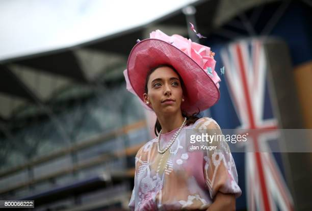 A racegoer looks on on day 4 of Royal Ascot at Ascot Racecourse on June 23 2017 in Ascot England