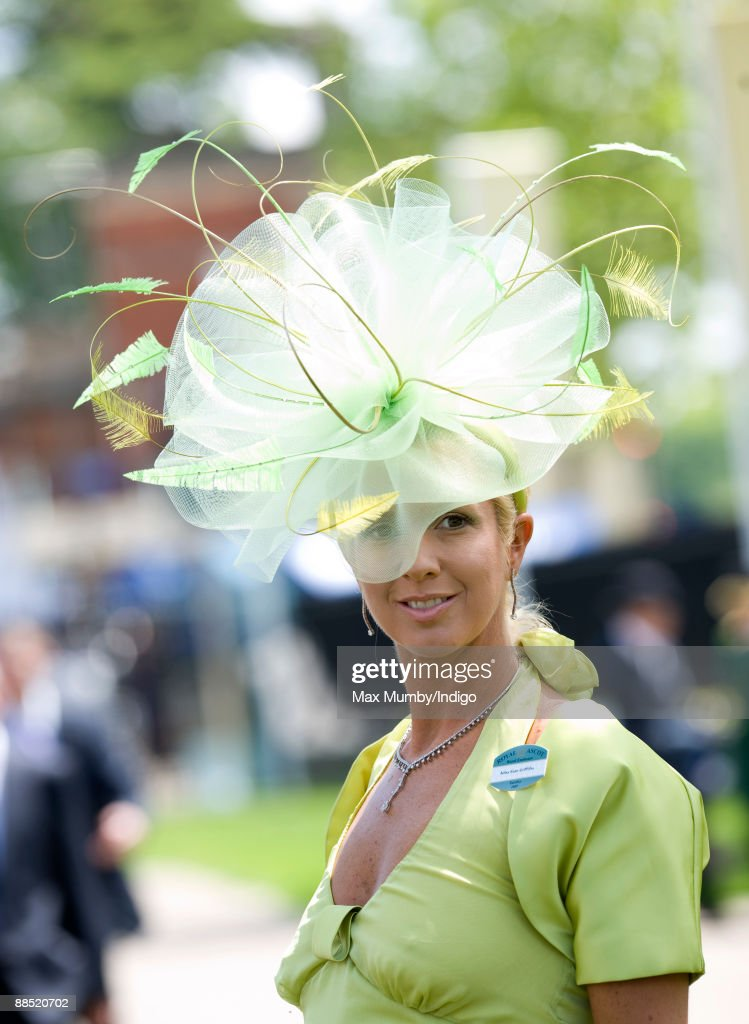 A racegoer wears an Extravagant Hat as she attends Royal Ascot at Ascot Racecourse on June 16, 2009 in Ascot, England.