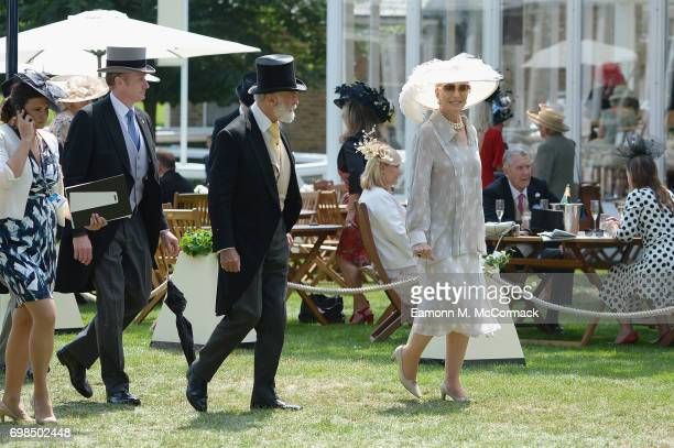 Racegoers are seen within the Royal Enclosure on day 1 of Royal Ascot at Ascot Racecourse on June 20 2017 in Ascot England