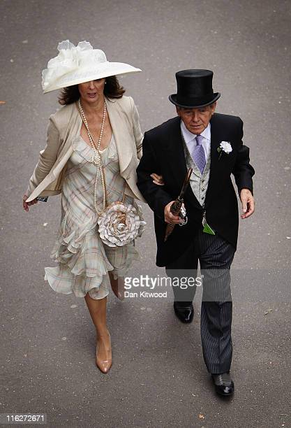 Racegoers arrive for day two of Royal Ascot on June 15, 2011 in Ascot, England. The five-day meeting is one of the highlights of the horse racing...