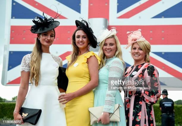 Racegoers at Royal Ascot on June 19, 2019 in Ascot, England.