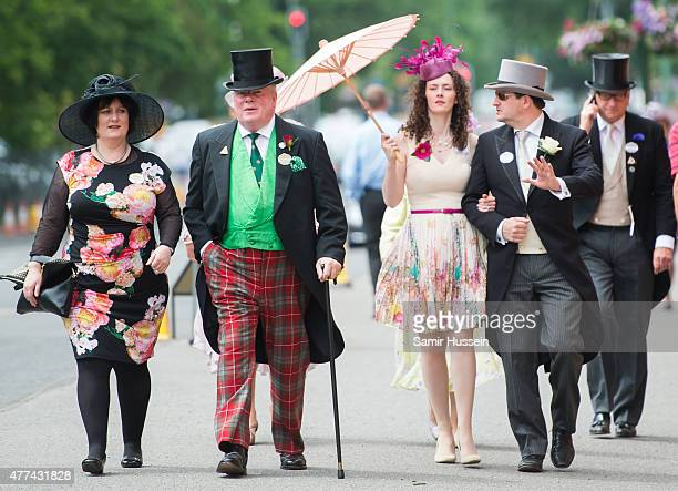 Racegoers attend day 2 of Royal Ascot at Ascot Racecourse on June 17 2015 in Ascot England