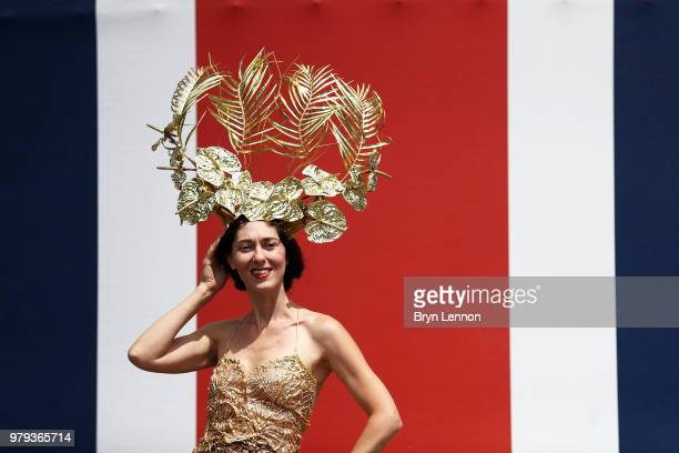 Racegoers attend day 2 of Royal Ascot at Ascot Racecourse on June 20 2018 in Ascot England