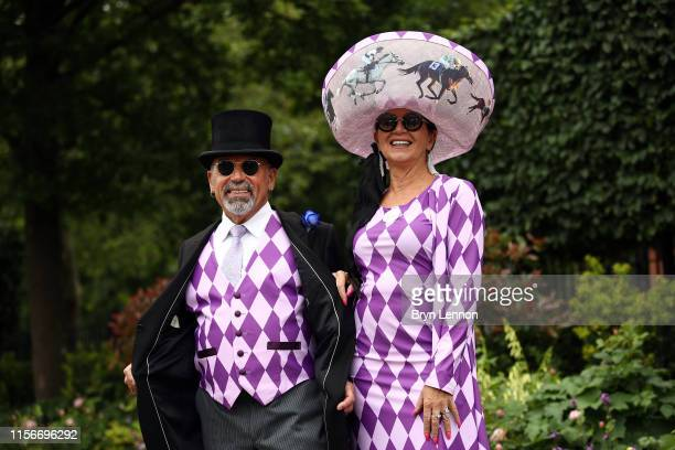Racegoers attend day one of Royal Ascot at Ascot Racecourse on June 18 2019 in Ascot England
