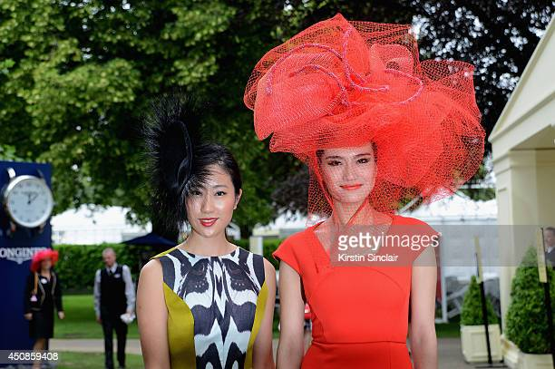 Racegoers attend day three of Royal Ascot at Ascot Racecourse on June 19 2014 in Ascot England