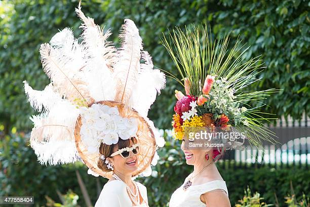 Racegoers attend Ladies Day on day 3 of Royal Ascot at Ascot Racecourse on June 18 2015 in Ascot England