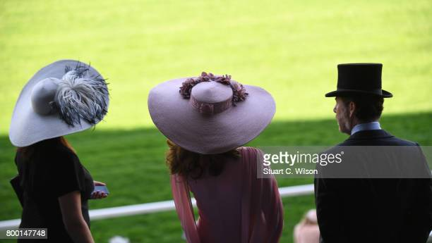 Racegoers attend Royal Ascot 2017 at Ascot Racecourse on June 23 2017 in Ascot England