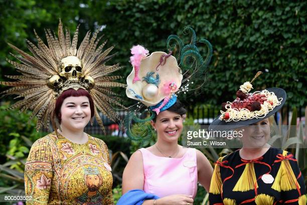 Racegoers attend Royal Ascot 2017 at Ascot Racecourse on June 24, 2017 in Ascot, England.